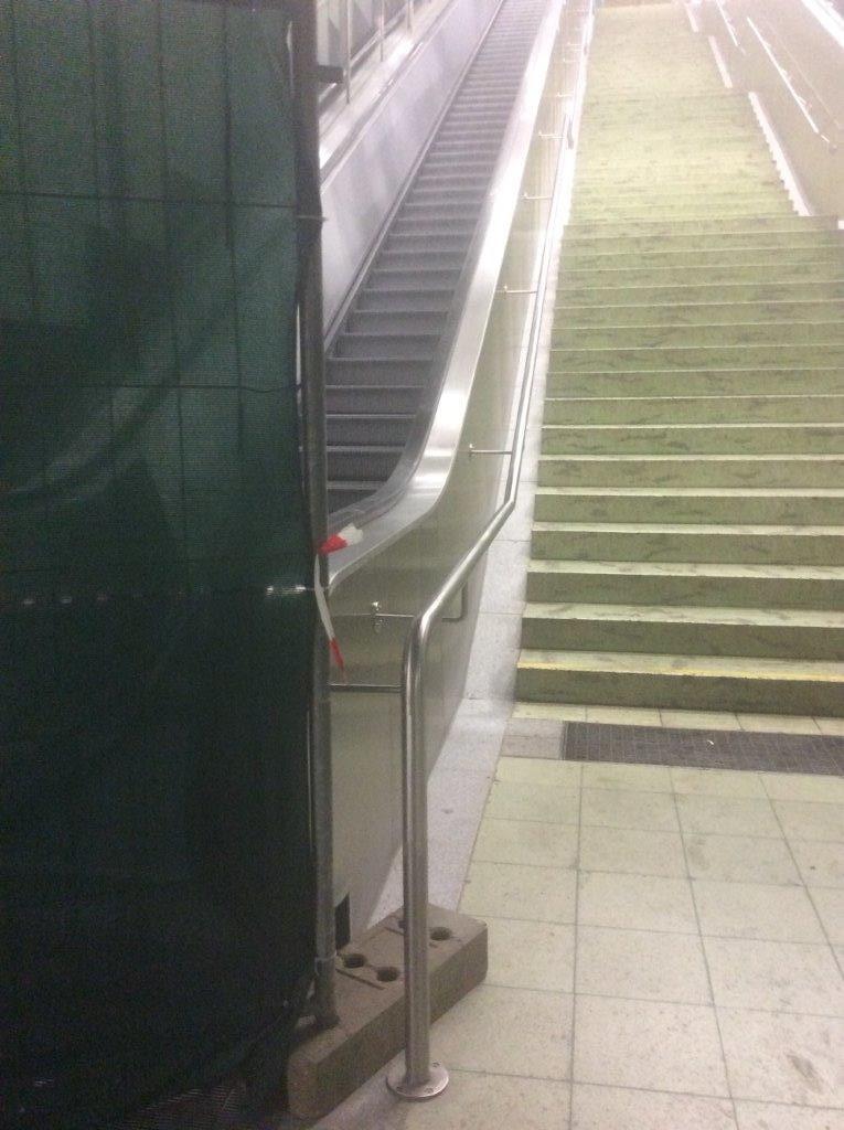Rolltreppe defekt