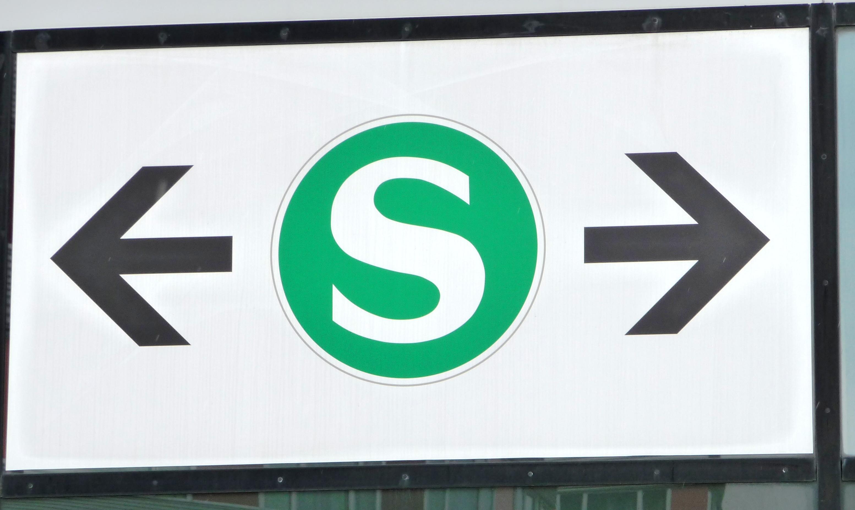 S-Bahn wohin (eigenes Foto)