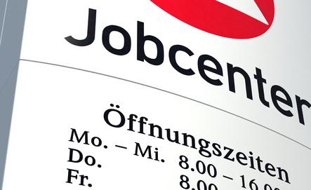 Schild Jobcenter