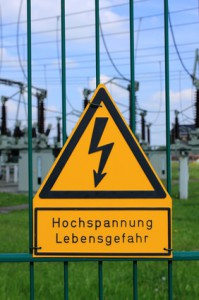 sign high voltage danger of life