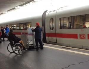 Rollstuhl im ICE3