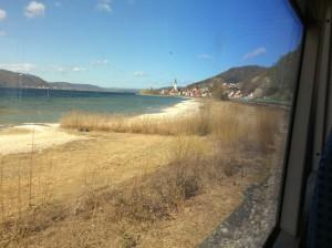 Bodensee vom Zug aus bei Überlingen