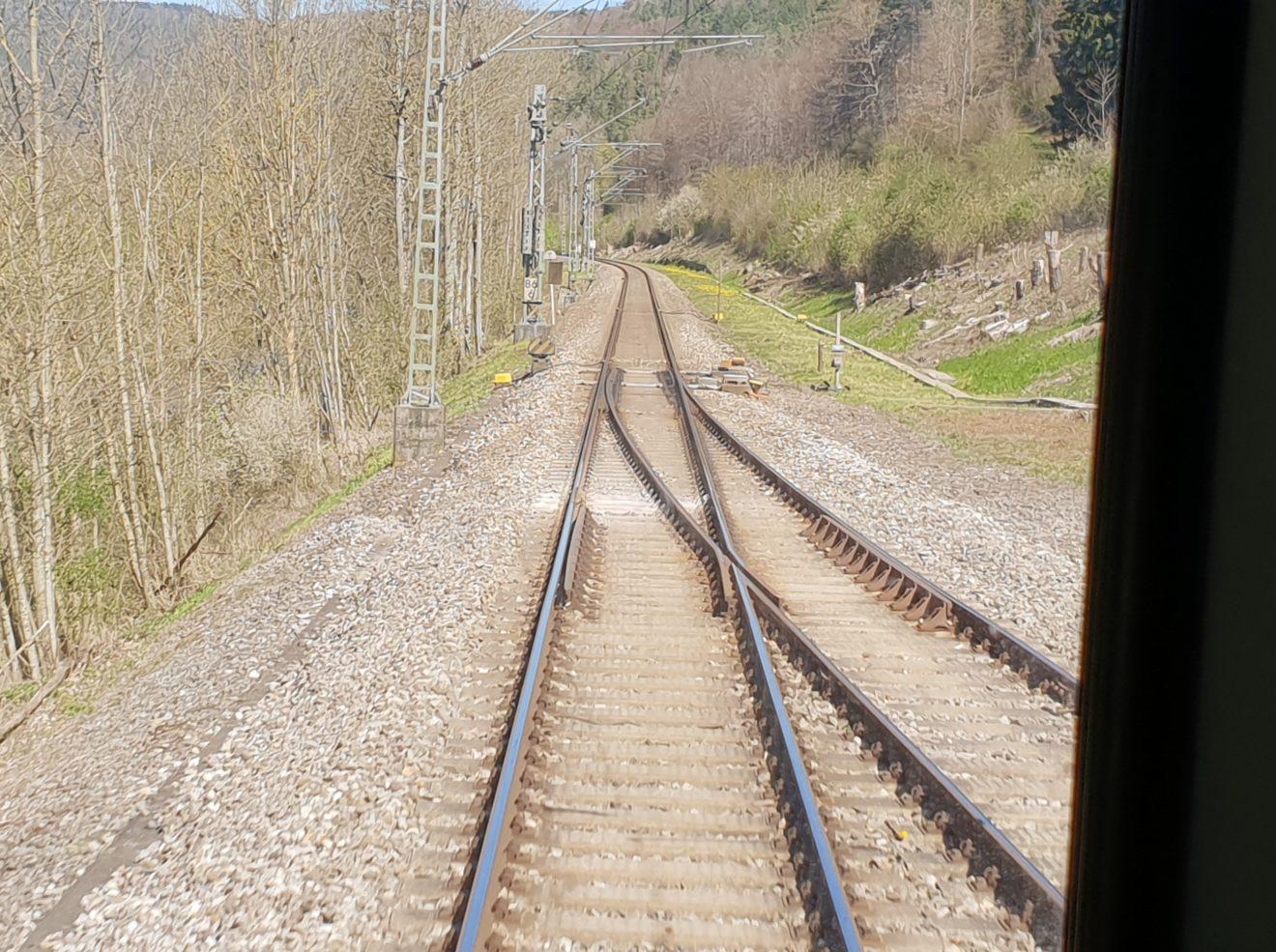 Gäubahn südlich von Neckarhausen