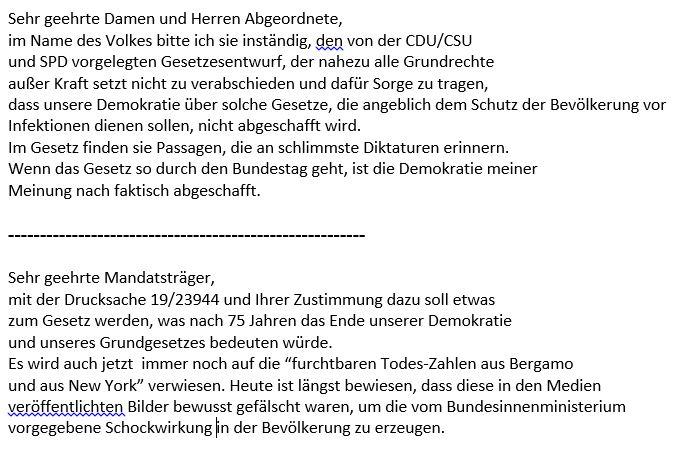 Screenshot Bürgerbriefe Corona