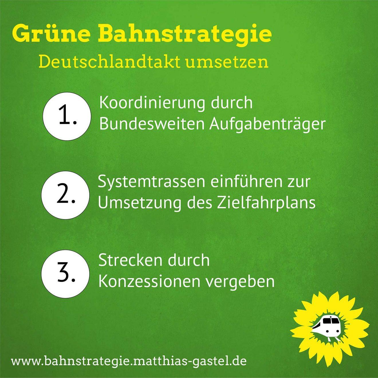3 Punkte zur Umsetzung Deutschlandtakt