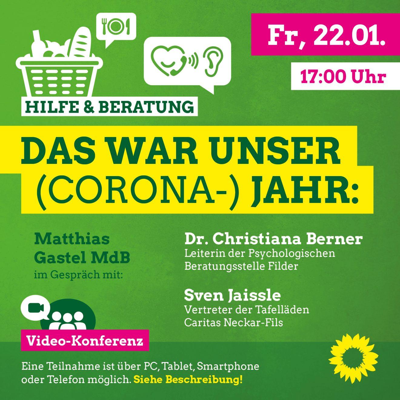 Sharepic Corona und Soziales 22.01.