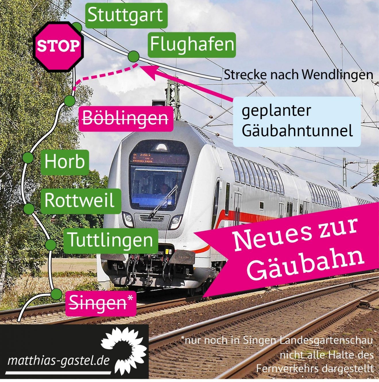 Sharepic Update Gäubahn