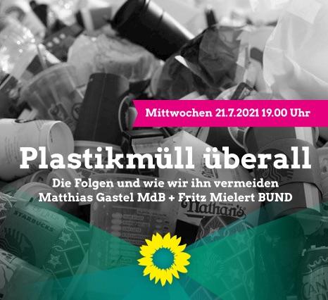 Sharepic Plastikmüll 21. Juli Quadrat